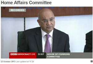 Plebgate Home Affairs Select Committee
